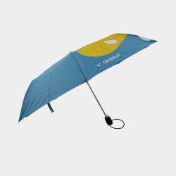 自動開けの注文のロゴは印刷される 3 つの折りたたみ式雨傘の設計 傘