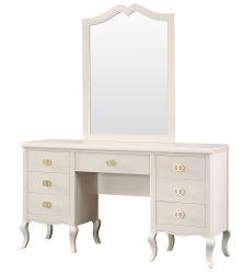 Tabella di preparazione lucida della pittura della mobilia della camera da letto alta con l'apprettatrice dello specchio