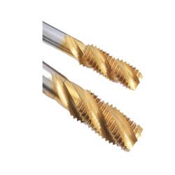 Tin 코팅을 사용한 HSS Co Carbide Spiral Flute Thread Taps