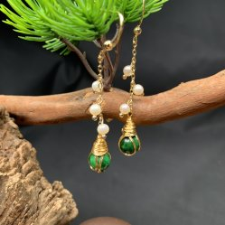 مجوهرات بالجملة قلادة من الحجر الكريم مصنوعة يدويًا مع محاجر بيرل هوك