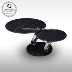 عصريّ جديد فندق أثاث لازم أريكة طاولة مستديرة سوداء قابل للتعديل معدن [كفّ تبل]