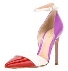 Colorare i pattini di corrispondenza della pompa delle donne del tallone delle signore dei sandali di modo dell'inarcamento della caviglia su