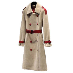 Novo Inverno Casual casaco quente Cordeiro mulheres roupas de lã de ovelha couros e peles de cisalhamento Senhora casaco de peles com bolso