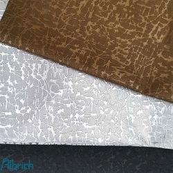 0.55mm de malha com PVC Lustre pérola de couro artificial para decoração