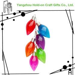 Adapté pour des vacances de décoration intérieure de l'ampoule en verre coloré forme de chaîne de combinaison d'artisanat