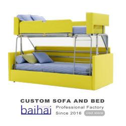 La salle de séjour Hôtel moderne du tissu lit superposé Cum Canapé-lit escamotable