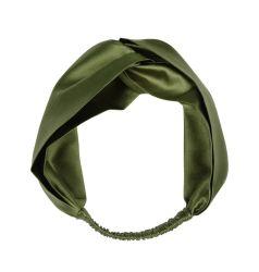 Custom 100% seda adornar el cabello de seda de la banda de niñas diadema elástica