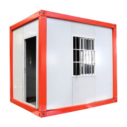 9 평방 미터 레드 프레임 컨테이너 하우스 맞춤형 도장