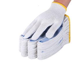 Guanti da lavoro in cotone a punti in PVC blu