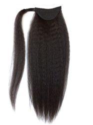 Целом заводская цена продажи собственных торговых марок Wrap Ponytails Яки прямой Virgin человеческого волоса расширений Ponytail Humain волос