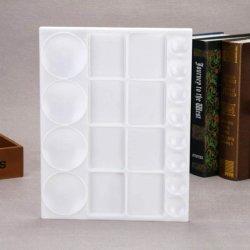 50609 tavolozza dei colori del vassoio di disegno Art. Della piastra di vernice rettangolare in plastica Con forniture per l'arte