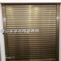 Novo Aplicativo único / liga de alumínio de dupla camada de material obturador Obturador de material eléctrico de porta a porta de liga de alumínio do obturador de laminagem de aço inoxidável