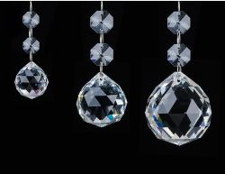 Beleuchtung Crystal Ball 40mm Beleuchtung Ball Perlen Vorhang hängenden Ball Pendelleuchte Zubehör Pendelleuchte transparent White Glass Ball 20mm 30mm 40mm 50mm 60mm