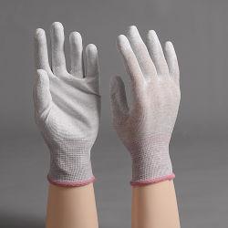 Fibre de carbone antistatique ESD pour salle blanche PU Gant de Palm