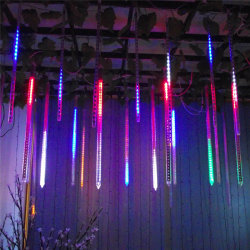 شمعات مياه الاتحاد الأوروبي 8 أنابيب LED شتيور دش المطر