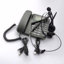 Telefone do desktop sem fio 3G com gravação de som e de comercialização de voz