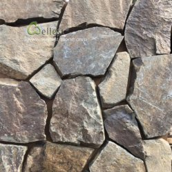 Revêtement de mur extérieur lâche de placages, de cheminée en pierre Wallstone, Décoration de mur de pierre de cheminée