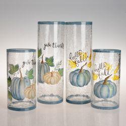 Vérin de nouvelle conception crépitement Vase en verre de citrouille peints à la main pour la décoration d'accueil
