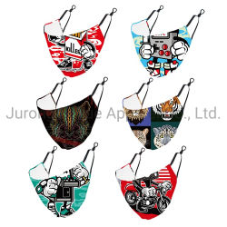 맞춤형 디자인 블랙 조정 가능 신축성 있는 귀걸이 재사용 가능 소프트 안전 보호 면 마스크