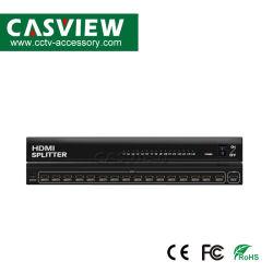 Full HD 4K HDMI разветвитель 1X16 поддерживает HDMI 1,4 миллиарда долларов 3D 4Kx2K HDMI разрешение до 3840x2160/30Гц совместимость с HDCP Plug & Play DC12V/5A источник питания 460*150*40мм