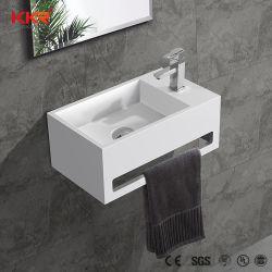 Kleine weiße Matt-Wand hing festes Oberflächensteinwannen-Badezimmer-Eitelkeits-Wäsche-Handbassin