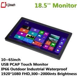 Display PC industriale schermo LCD da 18,5 pollici touchscreen capacitivo a infrarossi Tutto in Un unico PC Kiosk Monitor