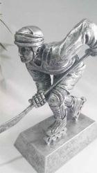 En ligne de sexe masculin de hockey de rue Skate Award - Award - Silver trophée en résine -femelle Polyresin Gold Award