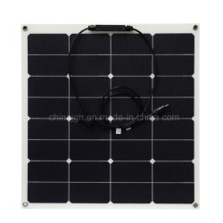 50W Semi-Flexible Sunpower Panel Solar de ETFE (JGN-50W-SPFE)