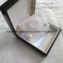 カスタムハンドメイドの光沢のある絵画木製Jewerllery/JewelryギフトのリングのネックレスBox/Case