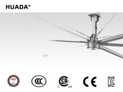 24FT CE 인증 저소음 HVLS 대형 산업용 천장 팬 공장 사용