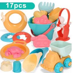 비치샌드 장난감 세트 - 어린이 1년 비치 버킷 시프터 레이크 셔블 교육 학습 완구 보관용 메쉬백 모래수공구 어린이 아기 소녀
