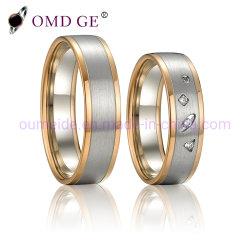المرأة أزياء الماس جوهرة محاكاة خاتم النحاس