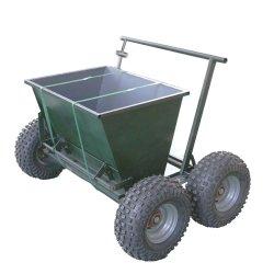 인공적인 잔디 작업을 위한 수동 샌드 인필 칫솔질 머신