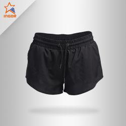Custom Sportswear Polyester Balck mode salle de gym Plain Dry Fit Womens Running shorts de sport