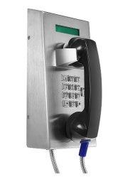 Kundenkontaktcenter-Telefon mit LCD-Bildschirmanzeige, SIP-Vandalproof Notruftelefon mit rostfreiem Gehäuse