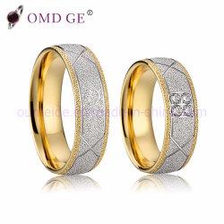 2019 Chegada 14K 18K Gold Bandas de casamento em aço inoxidável