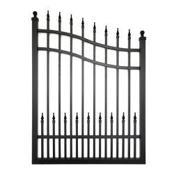 L'aluminium métal coulissante de porte en fer forgé automatique