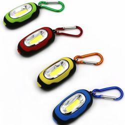 La torcia elettrica della PANNOCCHIA IL LED Keychain, mini torcia Pocket magnetica con il formato portatile e mini di Carabiner, 4 Assorted i colori