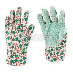 Senhora Algodão Jardinagem Impresso Floral luvas de trabalho com preço económico