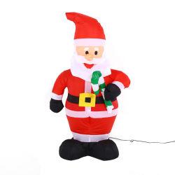 زورق مطاطي سانتا كلوز 4FT عيد الميلاد تفجير الديكور مع ضوء LED