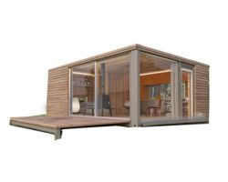 Dubai Móvil Contenedor Prefabricado Modular Ampliable Home/ Prefabricados Moderna Casa de 2 Pisos de 20 Pies de la Casa del Contenedor de Envío