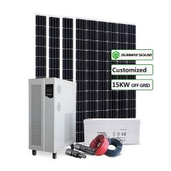 Sunway 15квт мощности солнечной электроэнергии создание системы генератора 240 В для дома