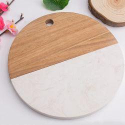 صينية من الرخام عالي الجودة بلاسميات من الرخام والجبن لوحة تقطيع للتقطيع مصنوعة من الخشب