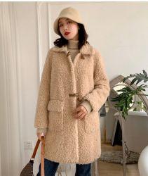Toda a venda de vestuário feminino Faux Fur Teddy falso túnicas de peles de ovinos casacos de Inverno de lã de carneiro cubra