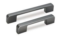 食器棚のドアの引きのハンドルのための引出しのマットの黒いアルミニウム