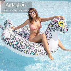 Populäre Belüftung-aufblasbare Pool-Mitfahrer-Spielwaren, die Ring-Gleitbetrieb schwimmen