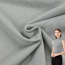 China Textil Polyester Spandex Single Jersey Strickgewebe 100% Polyester Gestreiftes Single Jersey mit Spandex T Shirt und Poloshirt Strickgarment Stoff