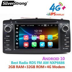 실버strong 쿼드 코어 Android 10 2 DIN 더블 DIN 차량용 DVD BYD F3/Toyota Corolla E120용 GPS