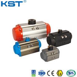 공 벨브 또는 나비 벨브 또는 통제 벨브 공기 토크 알루미늄 합금 두 배 작동 및 봄 반환 압축 공기를 넣은 회전하는 액추에이터