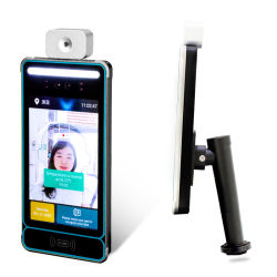 Le contrôle des accès d'identification faciale télécommande de reconnaissance de visage Instrument de température de la sécurité de porte